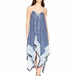 Jessica Simpson Blue Lace-Up Swim Cover Up